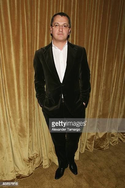 EditorinChief for Vanity Fair Italy Luca Dini attends a private dinner in honor of Anri Sala at the Cartier Dome Miami Beach Botanical Garden on...