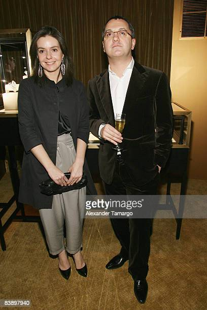 EditorinChief for Vanity Fair Spain Lourdes Garzon and EditorinChief for Vanity Fair Italy Luca Dini attend a private dinner in honor of Anri Sala at...