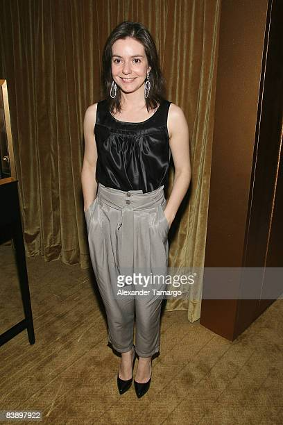 EditorinChief for Vanity Fair Spain Lourdes Garzon attends a private dinner in honor of Anri Sala at the Cartier Dome Miami Beach Botanical Garden on...