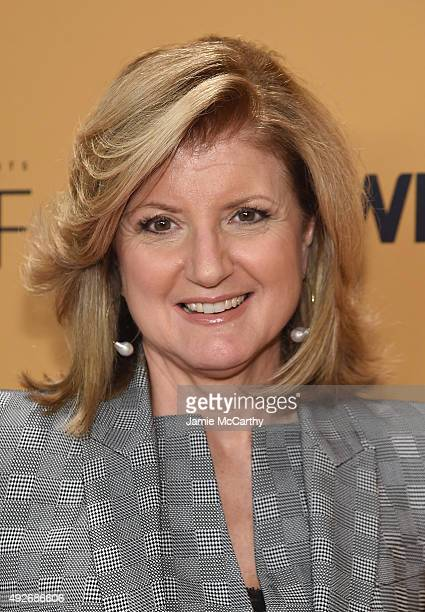 EditorInChief Huffington Post Arianna Huffington attends the 'Belief' New York premiere at TheTimesCenter on October 14 2015 in New York City