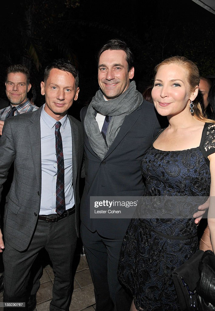 EditorInChief Jim Nelson actor Jon Hamm and Jennifer Westfeldt attend GQ's 2011 'Men of the Year' Party held at Chateau Marmont on November 17 2011...