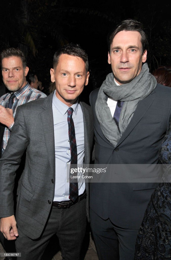 EditorInChief Jim Nelson and actor Jon Hamm attends GQ's 2011 'Men of the Year' Party held at Chateau Marmont on November 17 2011 in Los Angeles...