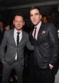 GQ editorinchief Jim Nelson and actor Zachary Quinto arrive at the GQ Men of the Year Party at Chateau Marmont on November 13 2012 in Los Angeles...