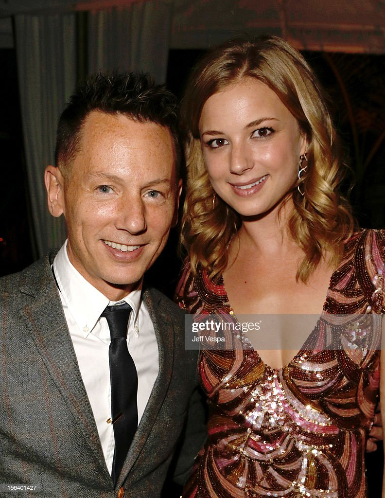 GQ editorinchief Jim Nelson and actress Emily VanCamp attend the GQ Men of the Year Party at Chateau Marmont on November 13 2012 in Los Angeles...
