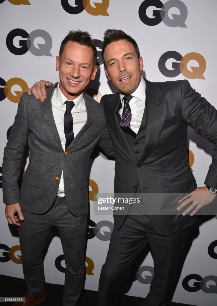 GQ editorinchief Jim Nelson and Ben Affleck arrive at the GQ Men of the Year Party at Chateau Marmont on November 13 2012 in Los Angeles California