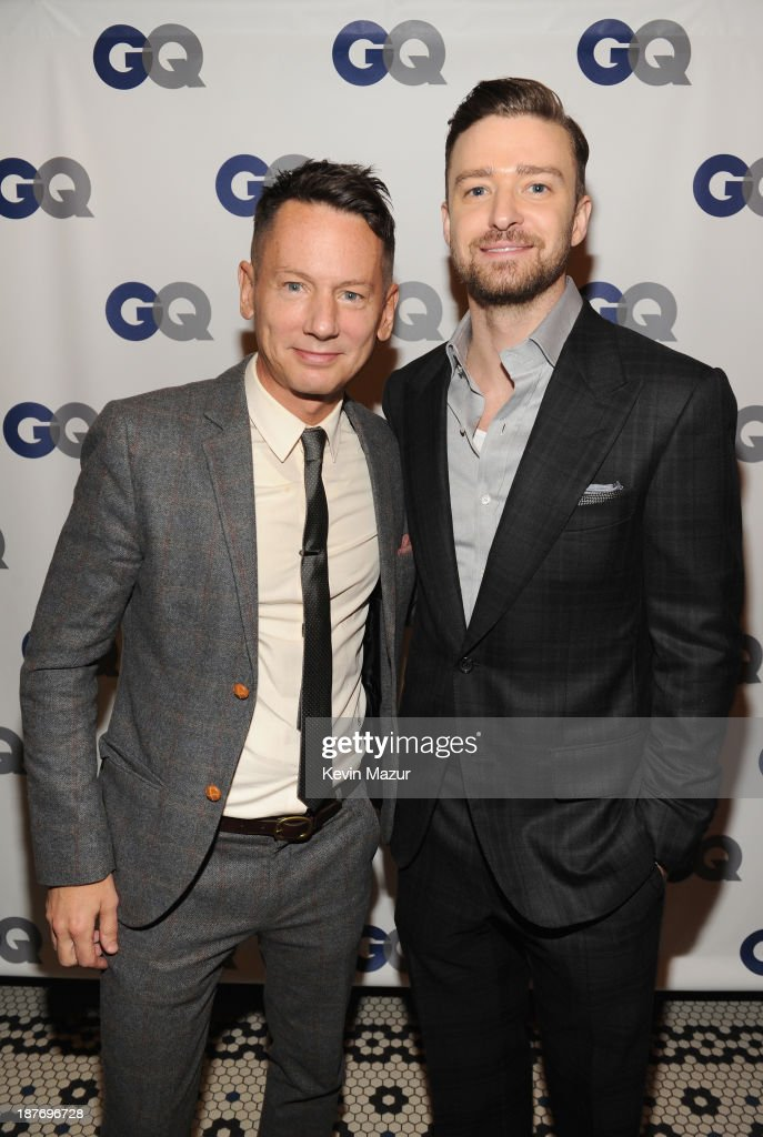 GQ editorinchief Jim Nelson and musician/actor Justin Timberlake attend the GQ Men of the Year dinner on November 11 2013 in New York City