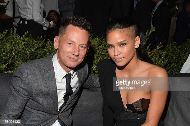GQ editorinchief Jim Nelson and singer Cassie Ventura attend the GQ Men of the Year Party at Chateau Marmont on November 13 2012 in Los Angeles...