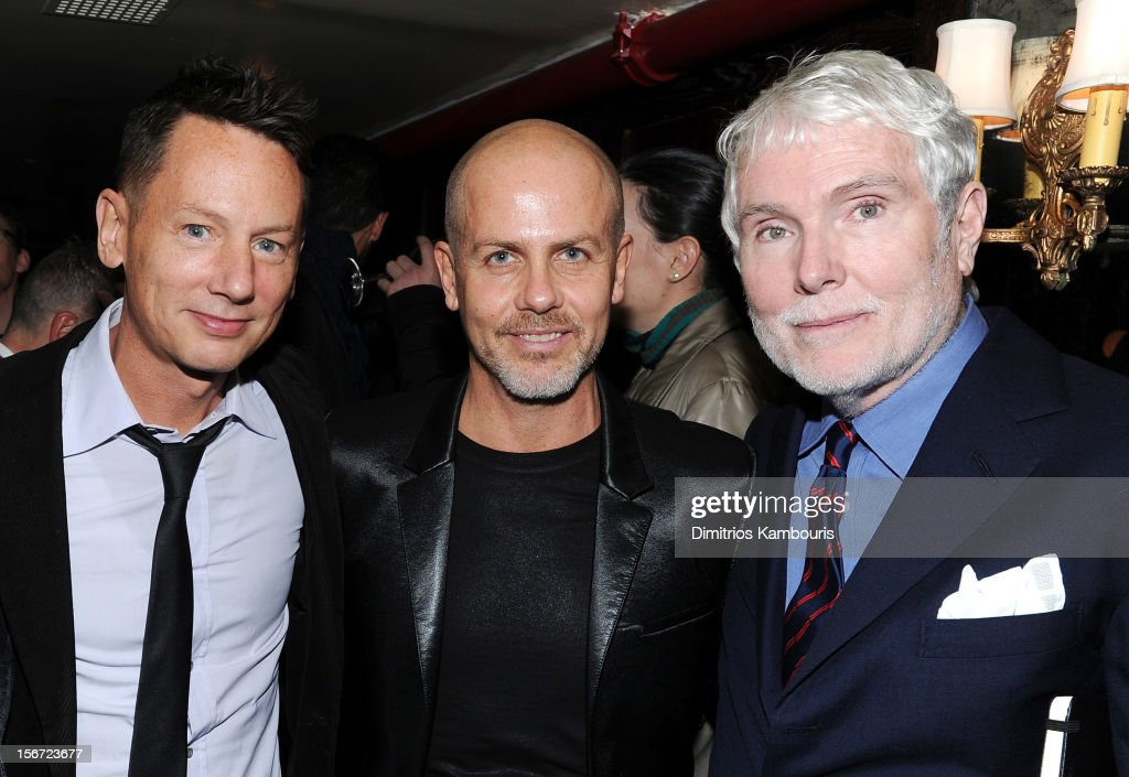 GQ EditorinChief Jim Nelson fashion designer Italo Zucchelli and GQ's 'Style Guy' Glenn O'Brien attend GQ's The Style Guy party at The Beatrice Inn...