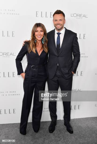 EditorinChief Nina Garcia and Joel McHale attend ELLE's 24th Annual Women in Hollywood Celebration presented by L'Oreal Paris Real Is Rare Real Is A...