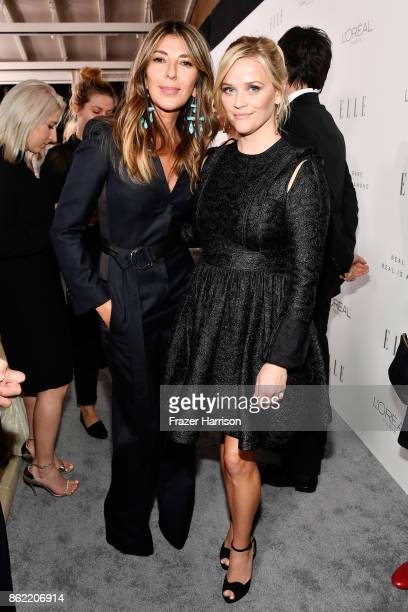 ELLE editorinchief Nina Garcia and Reese Witherspoon attend ELLE's 24th Annual Women in Hollywood Celebration presented by L'Oreal Paris Real Is Rare...