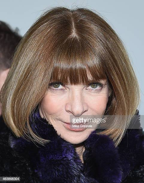 Editorinchief of American Vogue Anna Wintour attends the Calvin Klein Collection fashion show during MercedesBenz Fashion Week Fall 2015 at Spring...
