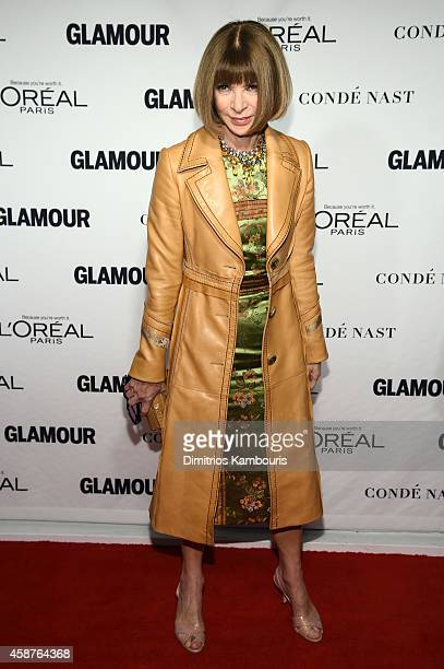 Editorinchief of American Vogue Anna Wintour attends the Glamour 2014 Women Of The Year Awards at Carnegie Hall on November 10 2014 in New York City