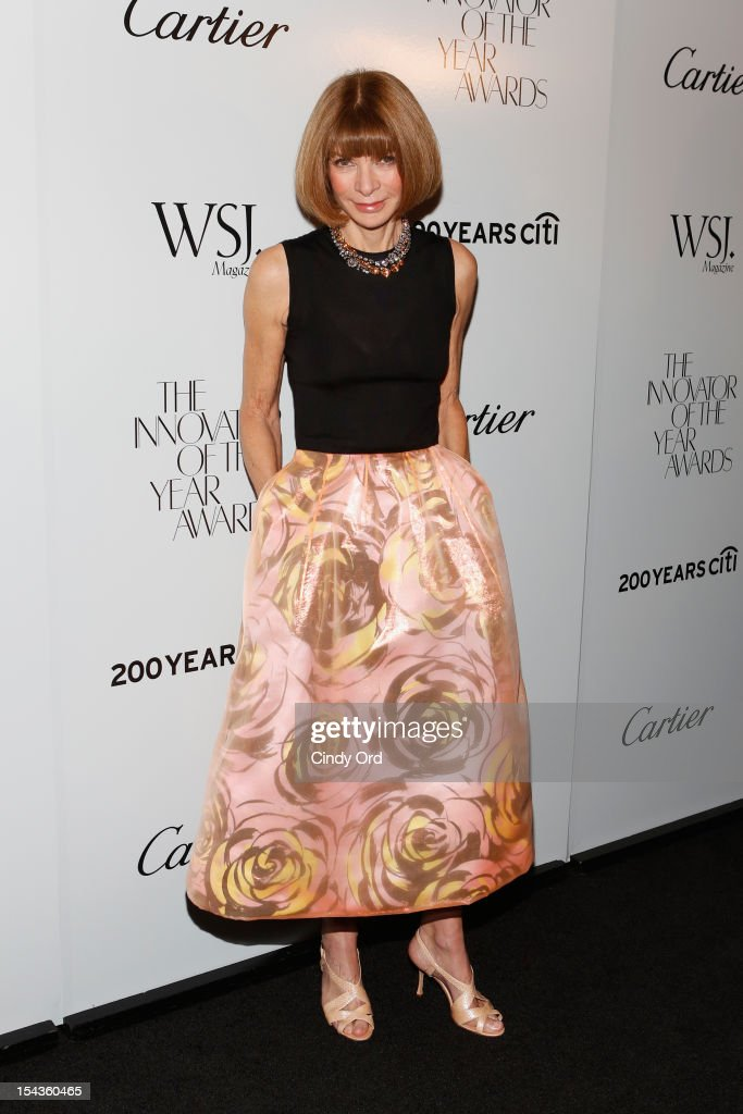 Editor-in-chief of American Vogue Anna Wintour attends WSJ. Magazine's 'Innovator Of The Year' Awards at MOMA on October 18, 2012 in New York City.