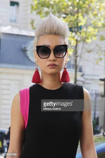 Editorinchief of Citizen K Arabia Esther Quek seen during Paris Fashion Week Womenswear Spring/Summer 2018 on October 3 2017 in Paris France