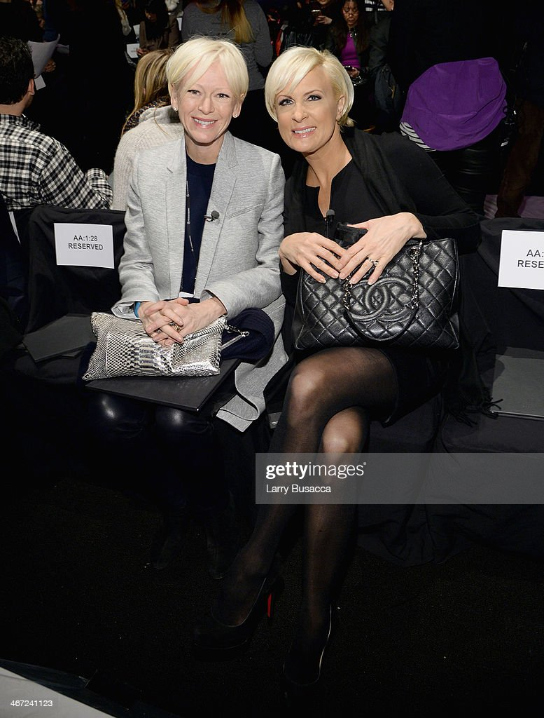 EditorinChief of Cosmopolitain Magazine Joanna Coles and journalist Mika Brzezinski attend BCBGMAXAZRIA fashion show during MercedesBenz Fashion Week...