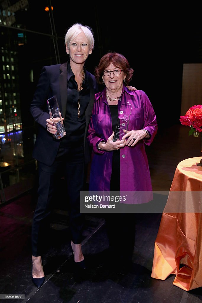 EditorinChief of Cosmopolitan Joanna Coles and former UN High Commissioner for Human Rights Louise Arbour attend the Center for Reproductive Rights...