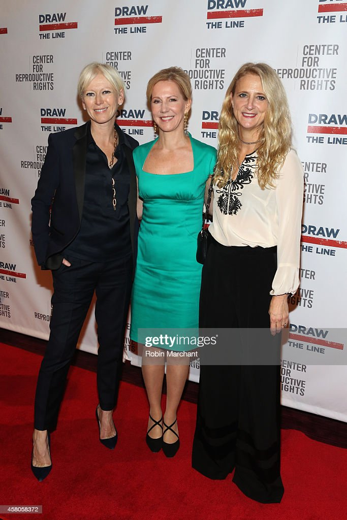 EditorinChief of Cosmopolitan Joanna Coles President of the Center for Reproductive Rights Nancy Northup and fashion designer Nanette Lepore attend...