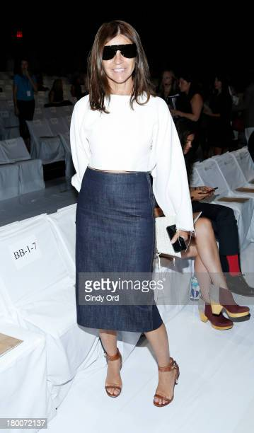 EditorinChief of CR Fashion Book Carine Roitfeld attends the Diane Von Furstenberg fashion show during MercedesBenz Fashion Week Spring 2014 at The...