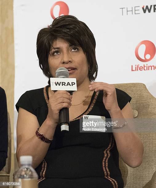 EditorinChief of El Buho Magazine Peru Mabel Caceres speaks onstage at TheWrap's 8th Annual Power Women Breakfast at Montage Beverly Hills on October...