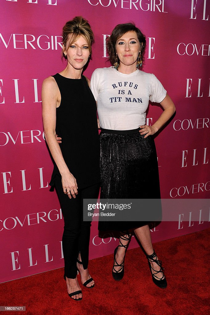 Editor-in-chief of Elle magazine <a gi-track='captionPersonalityLinkClicked' href=/galleries/search?phrase=Robbie+Myers&family=editorial&specificpeople=2260300 ng-click='$event.stopPropagation()'>Robbie Myers</a> and Singer/songwriter <a gi-track='captionPersonalityLinkClicked' href=/galleries/search?phrase=Martha+Wainwright&family=editorial&specificpeople=539878 ng-click='$event.stopPropagation()'>Martha Wainwright</a> attend the 4th Annual ELLE Women in Music Celebration at The Edison Ballroom on April 10, 2013 in New York City.