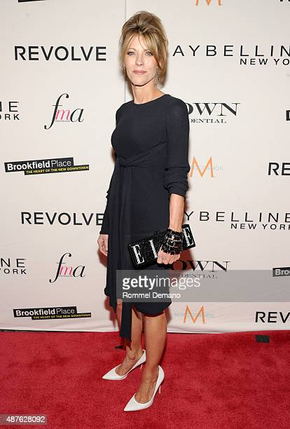 EditorinChief of Elle Robbie Myers attends The Daily Front Row's Third Annual Fashion Media Awards at the Park Hyatt New York on September 10 2015 in...