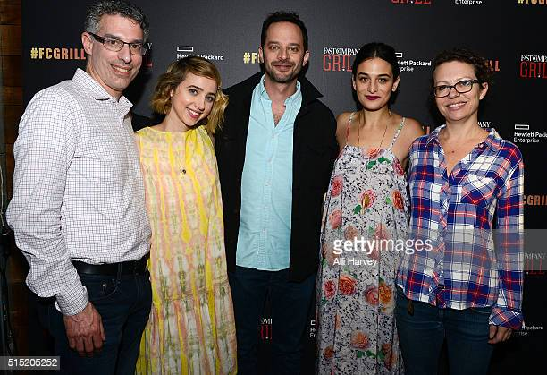 EditorinChief of Fast Company Robert Safian Actress Zoe Kazan Actor Nick Kroll Actress Jenny Slate and Director Sophie Goodhart attend the Fast...