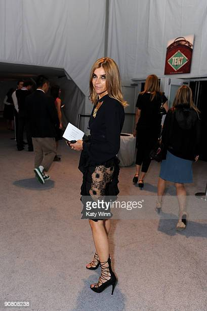 EditorinChief of French Vogue Carine Roitfeld attends MercedesBenz Fashion Week at Bryant Park on September 15 2009 in New York New York