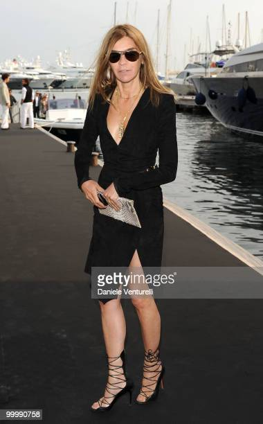 Editorinchief of French Vogue Carine Roitfeld attends the Fair Game Cocktail Party hosted by Giorgio Armani held aboard his boat 'Main' during the...