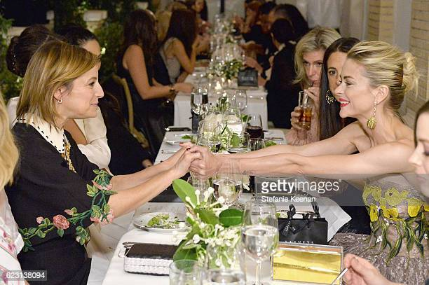 Editorinchief of Glamour Cindi Leive and actress Jaime King attend Fergie First Lady of Los Angeles Amy Elaine Wakeland Barneys New York Host Dinner...