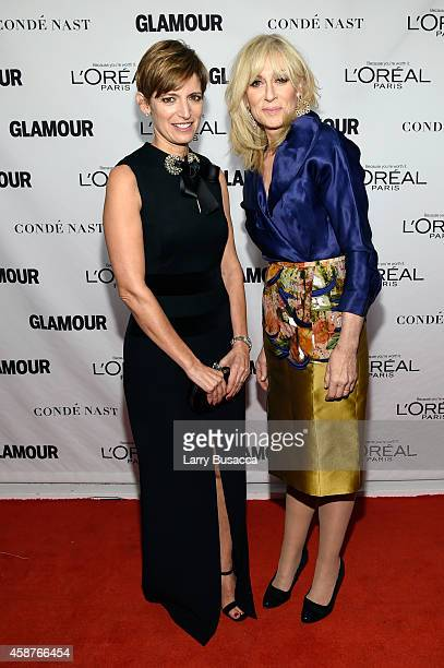 Editorinchief of Glamour magazine Cindi Leive and actress Judith Light attend the Glamour 2014 Women Of The Year Awards at Carnegie Hall on November...