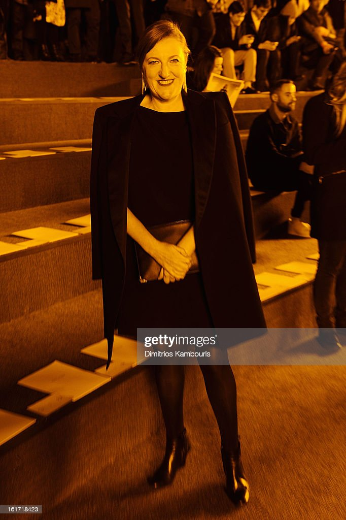 Editor-in-chief of Harpers Bazaar Glenda Bailey attends the Marc Jacobs Collection Fall 2013 fashion show during Mercedes-Benz Fashion Week at New York Armory on February 14, 2013 in New York City.