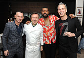 GQ EditorinChief of Jim Nelson Chef Daniel Boulud GQ Style Guy Mark Anthony Green and EditorinChief of Bon Appetit Adam Rapoport attend as Bon...