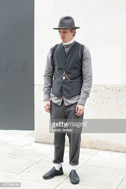 Editorinchief of LIFE Collective Jesse Stokkel wears Baileys hat Rains bag Nike shoes Christopher Shannon trousers Denham waistcoat and shirt Adyn...