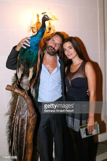 EditorinChief of Lui Frederic Beigbeder and Alyson Le Borges attend Lui Magazine Launch Party held at Foch Avenue in Paris at on September 3 2013 in...