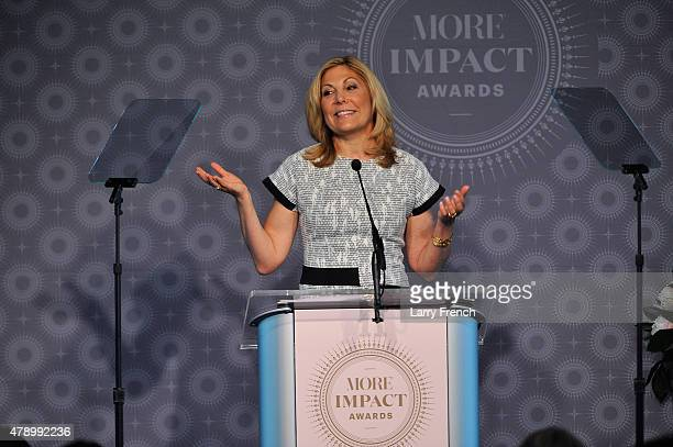 EditorinChief of MORE Magazine Lesley Jane Seymour speaks at the 2015 MORE Impact Awards Luncheon at The Newseum on June 29 2015 in Washington DC