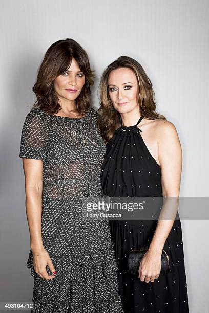 EditorinChief of NetaPorter Lucy Yeomans and model Helena Christensen attend The Daily Front Row's Third Annual Fashion Media Awards at the Park...