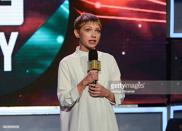 EditorinChief of Rookie Magazine Tavi Gevinson speaks at We Day Toronto at the Air Canada Centre on October 1 2015 in Toronto Canada