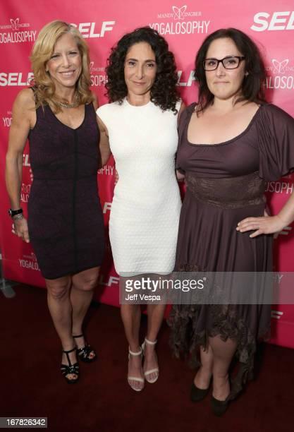 EditorinChief of Self Magazine Lucy Danziger Yoga instructor/author Mandy Ingber and actress Ricki Lake attend SELF Magazine and Jennifer Aniston's...