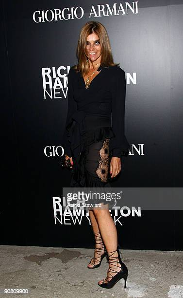 EditorinChief of the French Vogue Carine Roitfeld attends 'Richard Hambleton New York' presented by Vladimir RestoinRoitfeld Andy Valmorbida and...