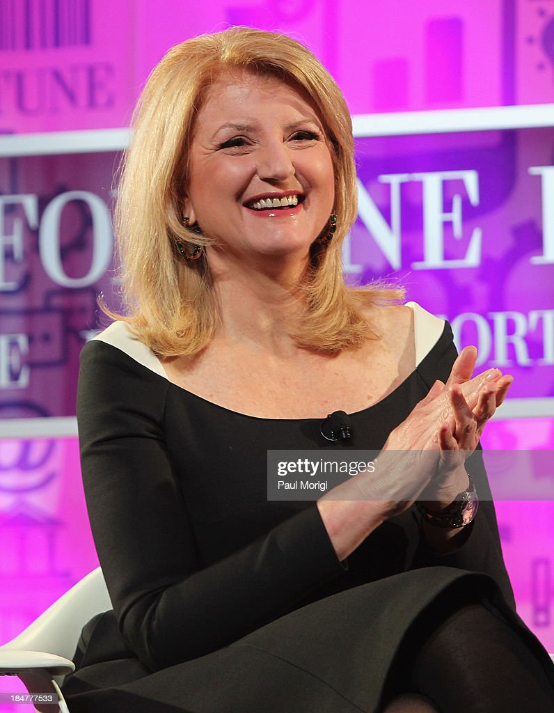 Editor-in-chief of the Huffington Post <a gi-track='captionPersonalityLinkClicked' href=/galleries/search?phrase=Arianna+Huffington&family=editorial&specificpeople=204730 ng-click='$event.stopPropagation()'>Arianna Huffington</a> speaks onstage at the FORTUNE Most Powerful Women Summit on October 16, 2013 in Washington, DC.