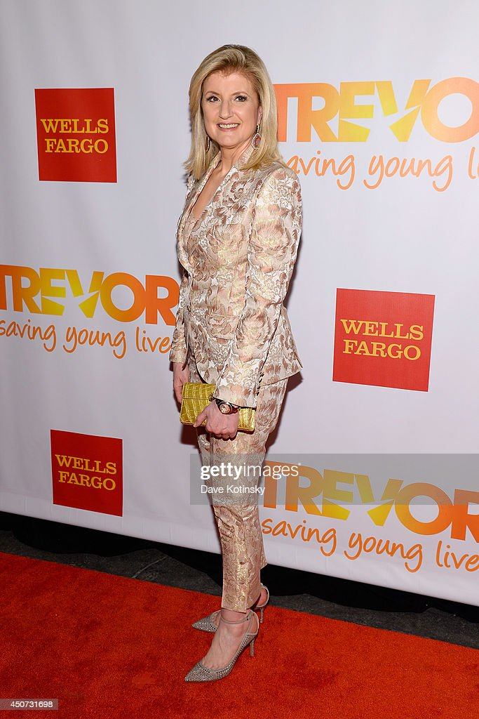 Editor-in-chief of the Huffington Post Media Group Arianna Huffington attends the Trevor Project's 2014 'TrevorLIVE NY' Event at the Marriott Marquis Hotel on June 16, 2014 in New York City.