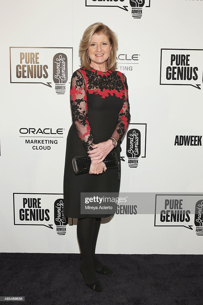 Editor-in-chief of the Huffington Post Media Group, <a gi-track='captionPersonalityLinkClicked' href=/galleries/search?phrase=Arianna+Huffington&family=editorial&specificpeople=204730 ng-click='$event.stopPropagation()'>Arianna Huffington</a> attends Adweek's Brand Genius 2015 at Guastavino's on October 20, 2015 in New York City.