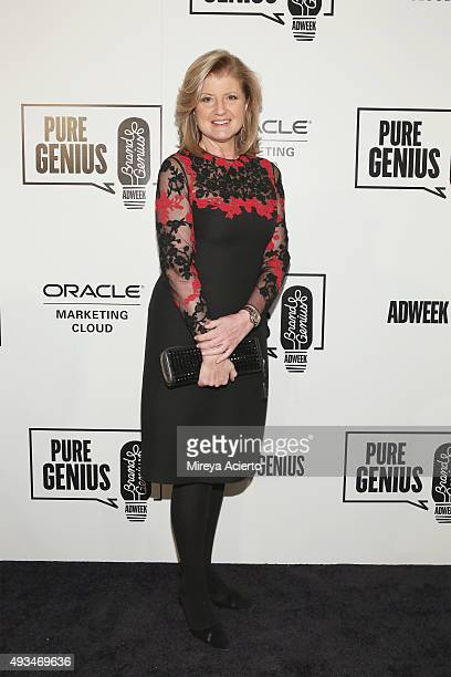 Editorinchief of the Huffington Post Media Group Arianna Huffington attends Adweek's Brand Genius 2015 at Guastavino's on October 20 2015 in New York...
