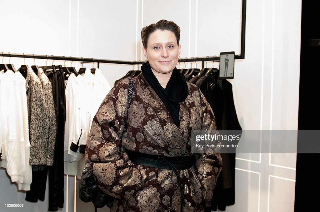 Editor-in-chief of the website NOWFASHION.com, Jessica Michault at the Karl Lagerfeld's Concept Store Opening as part of Paris Fashion Week on February 28, 2013 in Paris, France.