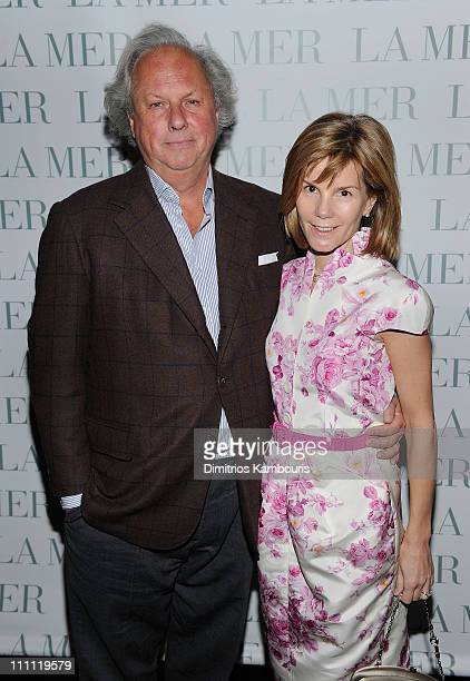 EditorInChief of Vanity Fair Graydon Carter and Anna Carter attend Christie's Green Auction after party hosted by Graydon Carter and La Mer at The...
