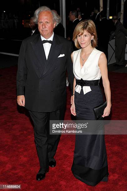 EditorInChief of Vanity Fair Graydon Carter and Anna Carter attend the Costume Institute Gala Benefit to celebrate the opening of the 'American Woman...