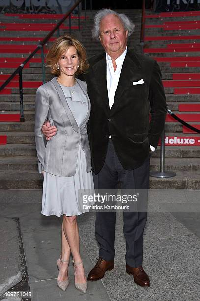 Editorinchief of Vanity Fair Graydon Carter and Anna Scott attend the Vanity Fair Party during the 2015 Tribeca Film Festival at the New York State...