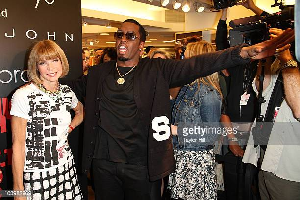EditorinChief of Vogue Anna Wintour and Sean 'Diddy' Combs attend the Macy's celebration of Fashion's Night Out at Macy's Herald Square on September...