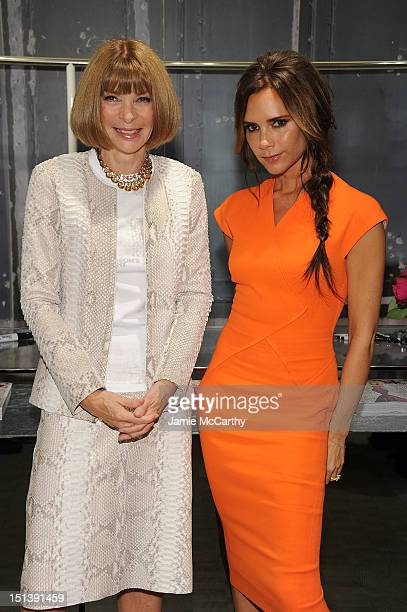 EditorinChief of VOGUE Anna Wintour and Victoria Beckham attend Bergdorf Goodman Celebrates Fashion's Night Out at Bergdorf Goodman on September 6...