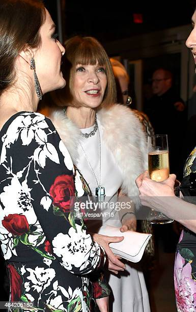 Editorinchief of Vogue Anna Wintour attends the 2015 Vanity Fair Oscar Party hosted by Graydon Carter at the Wallis Annenberg Center for the...